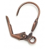 Lever Back With Shell Shape And Ring Earwire Antique Copper